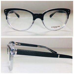 Coach Oval Black Crystal Eyeglasses Frames NWOT